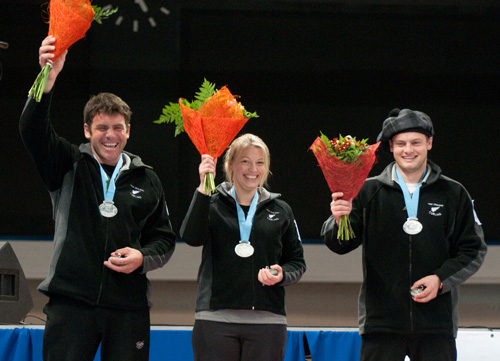 NZ win silver at World Mixed Doubles