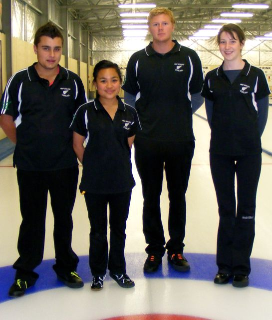 NZ Youth Olympic Games curling team 2012