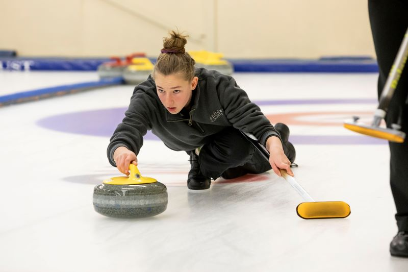Zoe Harman at the 2019 NZ Curling Championships
