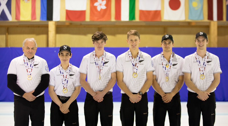 NZ Men, 2019 World Junior B gold medallists