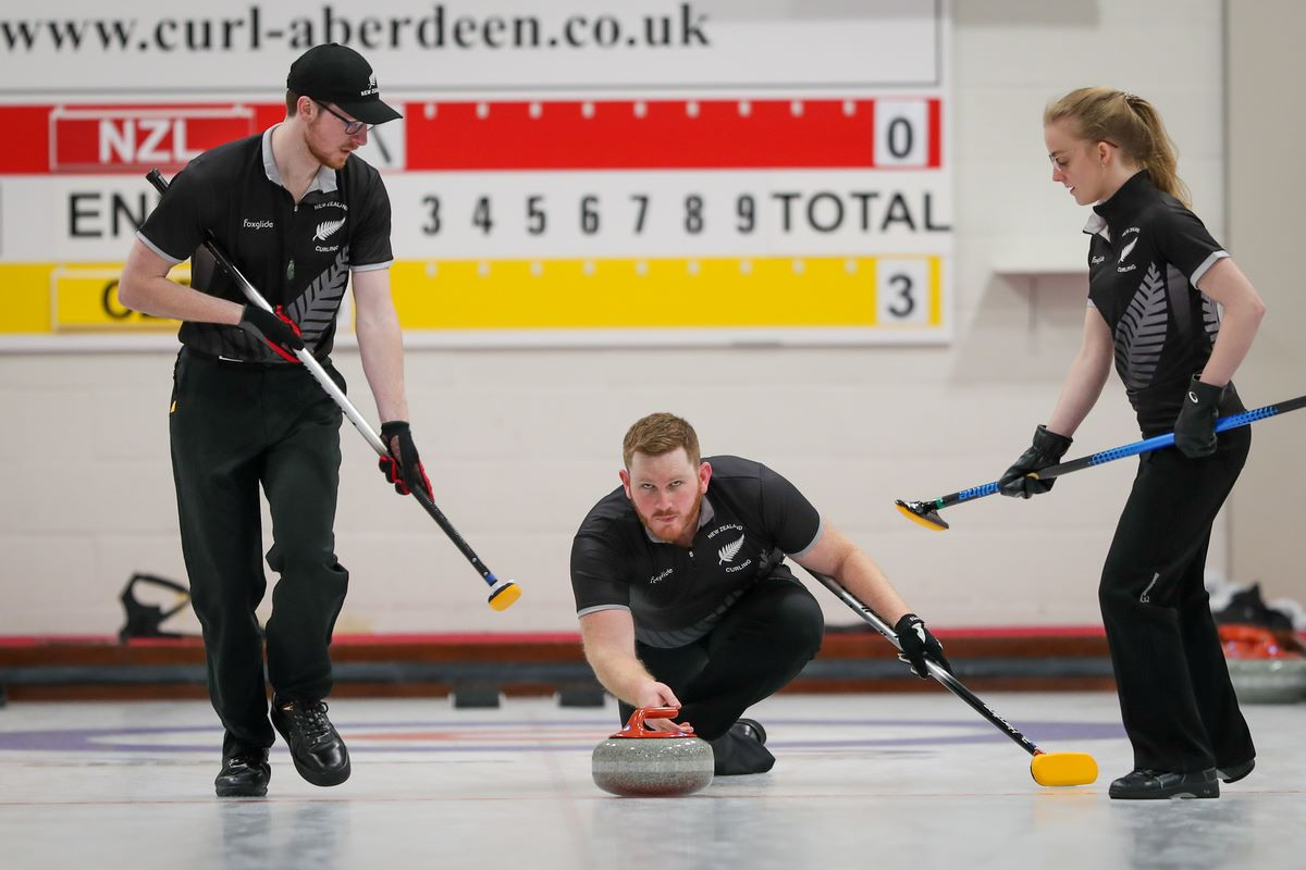 Team NZ in action at the 2019 World Mixed Curling Championship