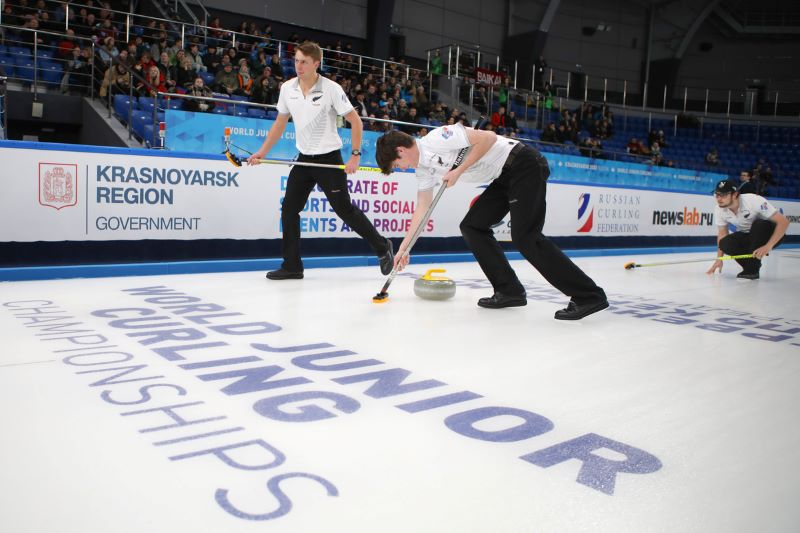 NZ Men at 2020 World Junior Curling Championship